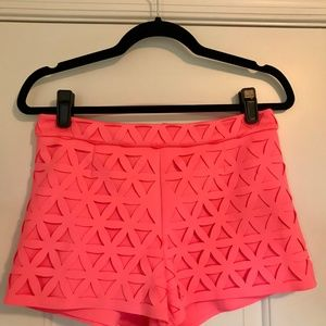 Laser Cut Shorts in Scuba Material